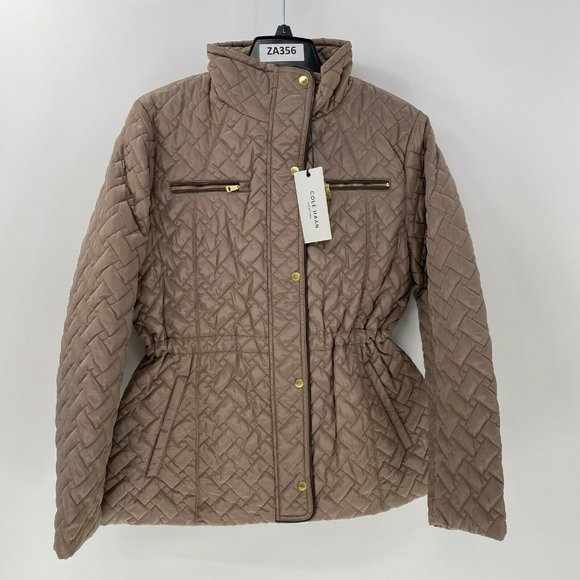 Cole Haan quilted anorak jacket L NWT